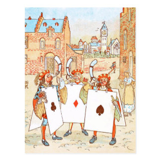 Vintage Drawing: Ace Knights Postcard