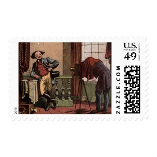 Vintage Drawing: Antique Photographer Postage