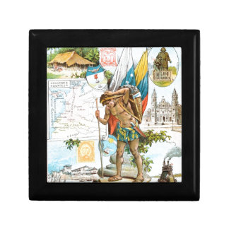 Vintage Drawing: Colombia and Ecuador Gift Box