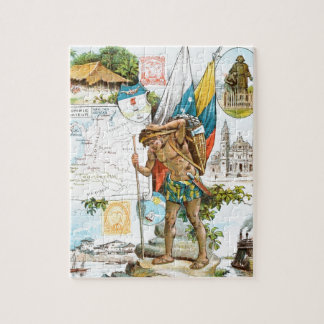Vintage Drawing: Colombia and Ecuador Jigsaw Puzzle