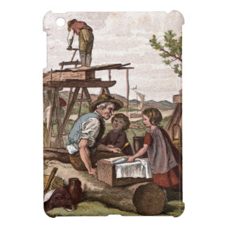 Vintage Drawing: Construction Workers iPad Mini Cases