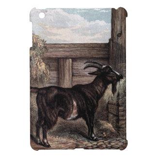 Vintage Drawing: Dark Brown Goat iPad Mini Cases