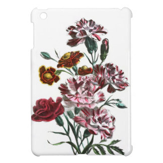 Vintage Drawing: Flemish Pink Flowers Cover For The iPad Mini