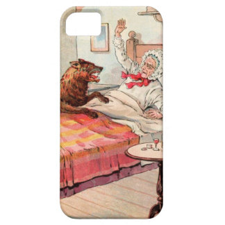 Vintage Drawing: Grandma and the Wolf iPhone SE/5/5s Case