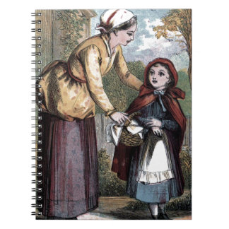 Vintage Drawing: Little Red Ridinghood Spiral Notebook