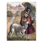Vintage Drawing: Marry's Little Lamb Postcard
