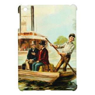 Vintage Drawing: Mississippi Boat Case For The iPad Mini