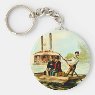 Vintage Drawing: Mississippi Boat Keychain