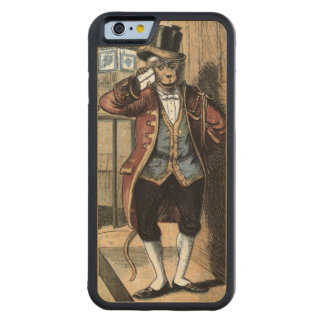 Vintage Drawing: Monkey in a Suit Carved Maple iPhone 6 Bumper Case