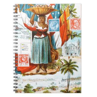 Vintage Drawing: Netherlands Antilles Notebook