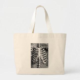 Vintage drawing of a ribcage jumbo tote bag