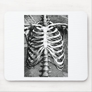 Vintage drawing of a ribcage mouse pads