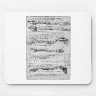 Vintage drawing of arm structure mouse pad