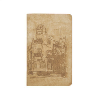 Vintage drawing of building journal
