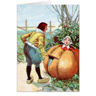 Vintage Drawing: Peter Pumpkin Eater Card