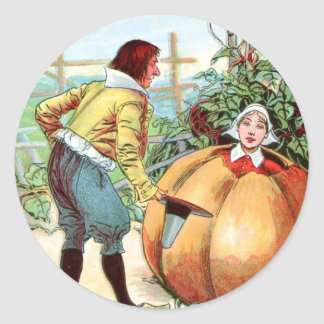 Vintage Drawing: Peter Pumpkin Eater Classic Round Sticker