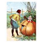 Vintage Drawing: Peter Pumpkin Eater Postcard
