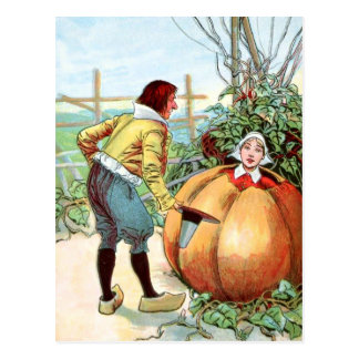 Vintage Drawing: Peter Pumpkin Eater Post Cards