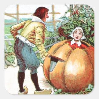 Vintage Drawing: Peter Pumpkin Eater Square Sticker