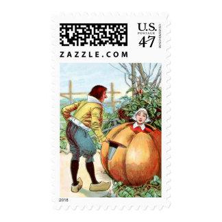 Vintage Drawing: Peter Pumpkin Eater Stamp