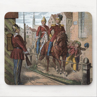 Vintage Drawing: Redcoat Soldiers Mouse Pad