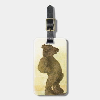 Vintage Drawing: Teddy Bear and his Shadow Luggage Tag