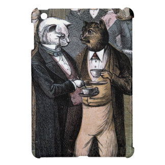 Vintage Drawing: The Cats Teaparty Case For The iPad Mini