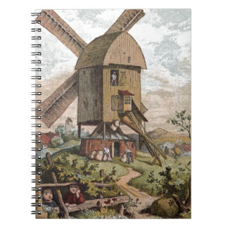 Vintage Drawing: The Old Mill Notebook