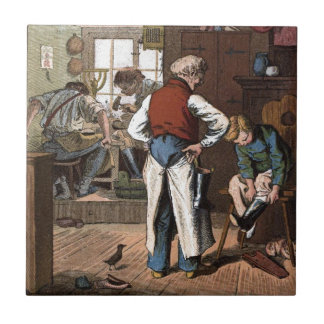 Vintage Drawing: The Shoemaker Tile