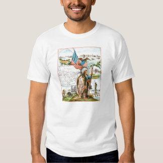 Vintage Drawing: USA Collage Shirt