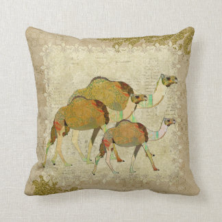 Vintage Dreamy Camels  Boho Mojo Pillow