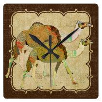 Vintage Dreamy Camels Clock