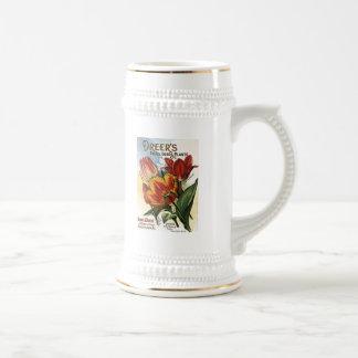 Vintage Dreer s Tulip Bulbs Coffee Mugs