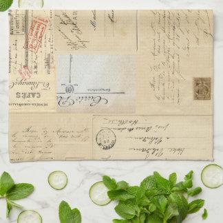 Vintage Dress Form French Postcard Towel