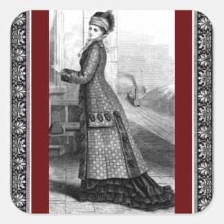 Vintage Dress Square Sticker