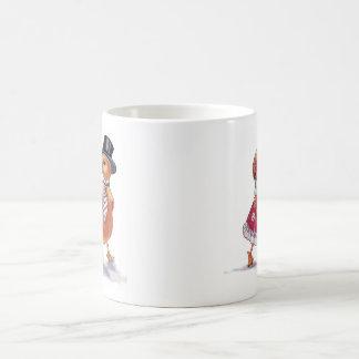 Vintage Dressed Up Ducks Coffee Mug