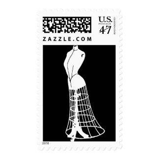 Vintage Dressform Postage Stamp
