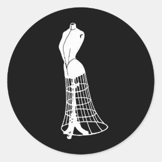 Vintage Dressform Classic Round Sticker
