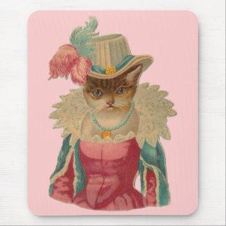 Vintage Dressy Cat Mouse Pad