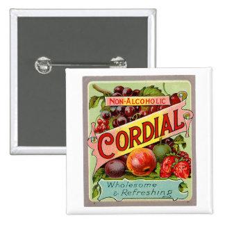 Vintage Drink Label Non Alcoholic Cordial Pins