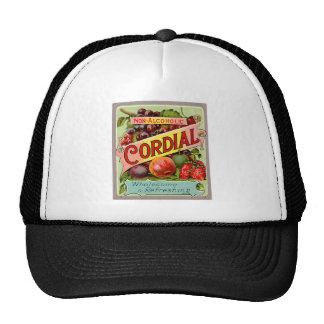 Vintage Drink Label Non Alcoholic Cordial Trucker Hat