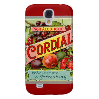 Vintage Drink Label Non Alcoholic Cordial Samsung Galaxy S4 Cover