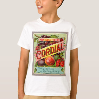 Vintage Drink Label Non Alcoholic Cordial T-Shirt