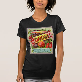 Vintage Drink Label Non Alcoholic Cordial T Shirt