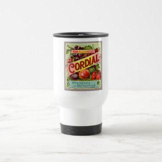 Vintage Drink Label Non Alcoholic Cordial Travel Mug