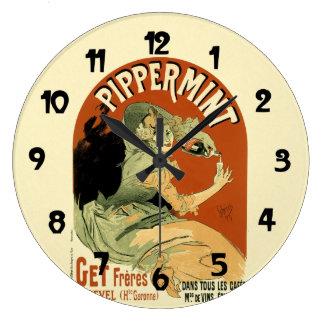 Vintage Drink Pipperment Poster Art Wallclock