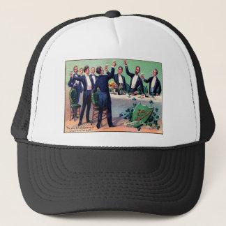 Vintage Drinking St Patrick's Day Card Trucker Hat