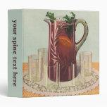 Vintage Drinks and Beverages, Pitcher of Iced Tea Vinyl Binders