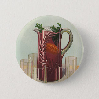 Vintage Drinks and Beverages, Pitcher of Iced Tea Button