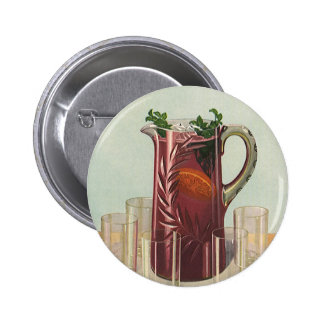 Vintage Drinks and Beverages, Pitcher of Iced Tea Buttons